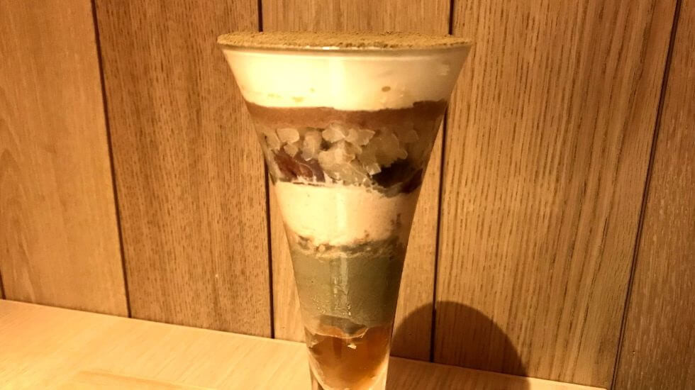 hojicha roasted green tea parfait