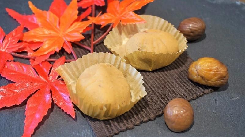 栗子泥糰狀和菓子