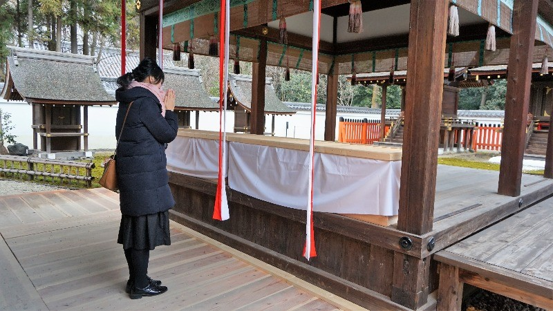 After a day at Shimogamo Shrine