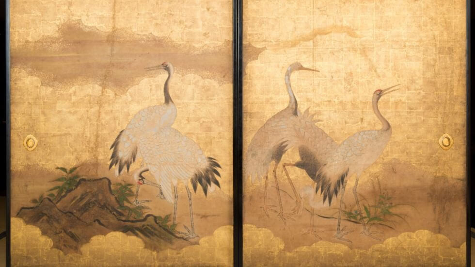From paintings of cranes