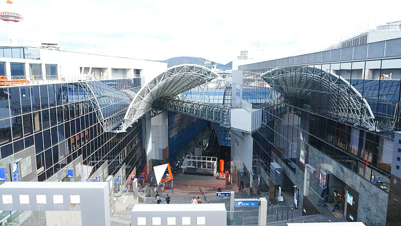 9 a.m. Leave Kyoto Station behind!