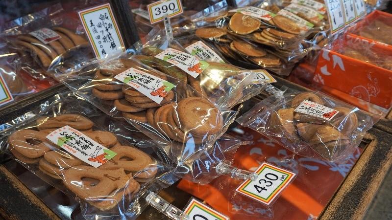 Japanese sembei-cookies