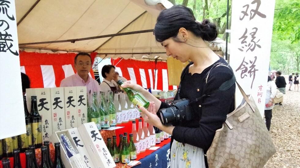 stall selling Japanese sake