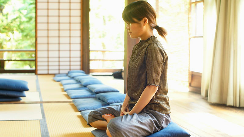 Zazen meditation experience
