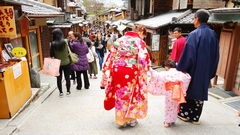 After wearing a kimono