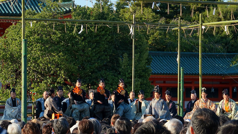 the Kyoto Takigi-noh has started