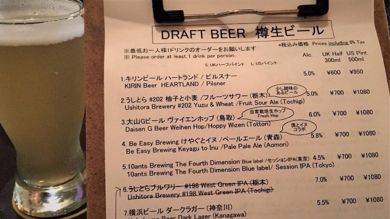Beer Komachi menu