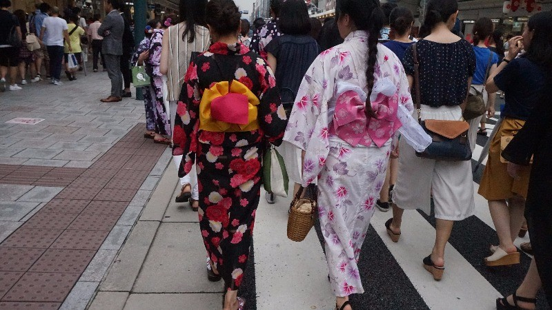 young women wearing yukatas