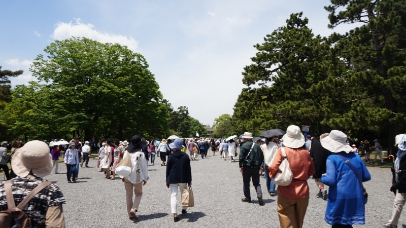 The procession starts