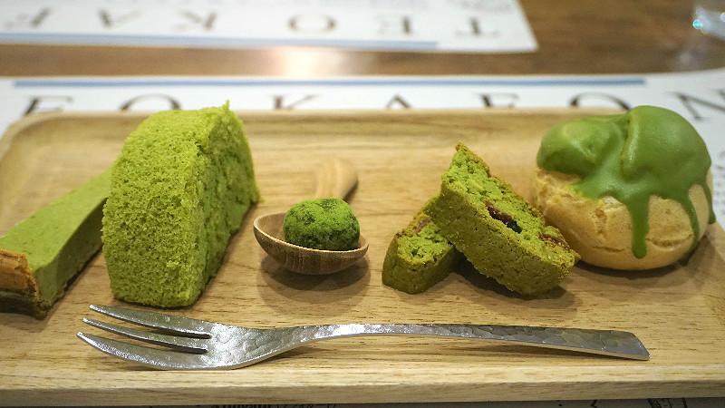 嚴選抹茶所製成的抹茶甜點拼盤