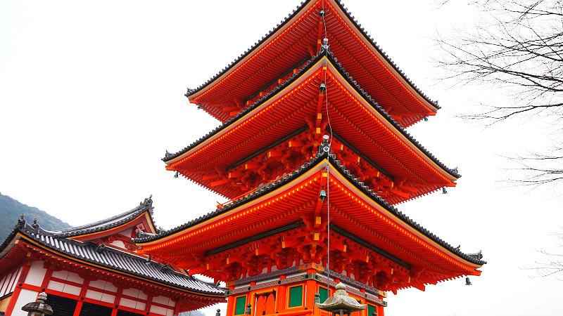 The three storied pagoda