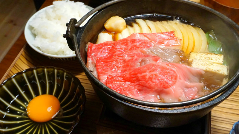 Japanese beef sukiyaki meal set