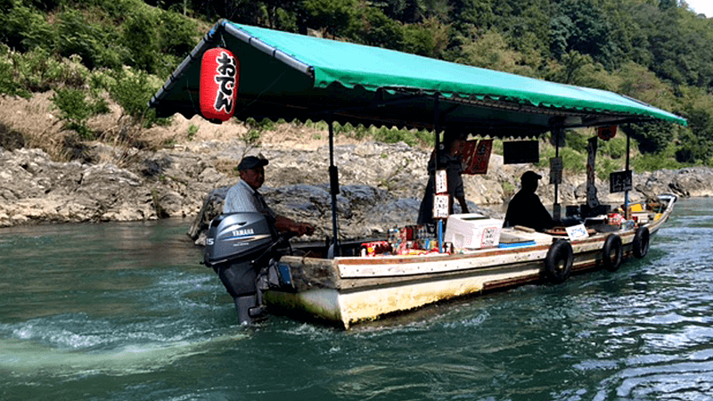 Floating food stand
