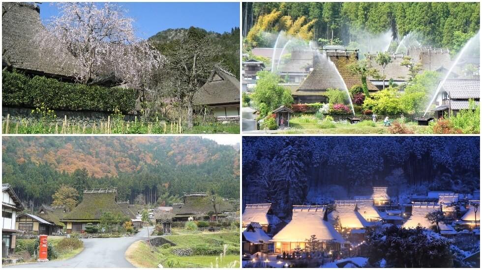 美山的四季景觀非常美