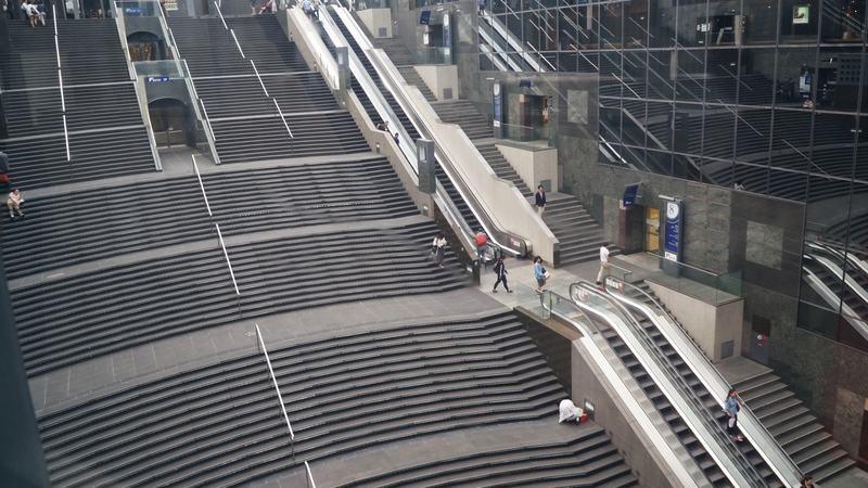 您可以朝下觀看在您下方的京都站