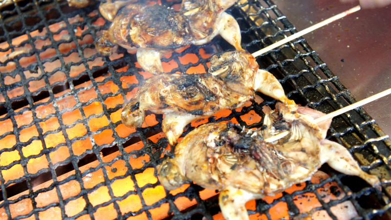 grilled quail and sparrow