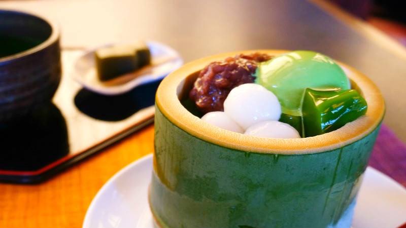 matcha tea jelly