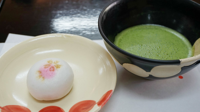 Matcha and a confection