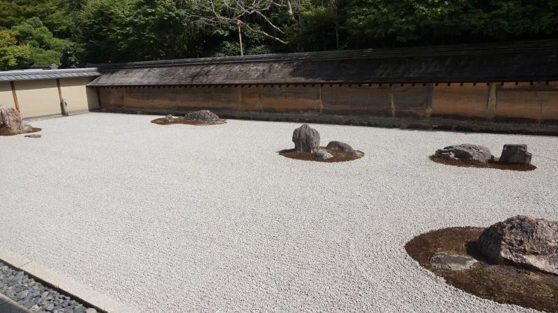Rock garden of Ryoan-ji Temple