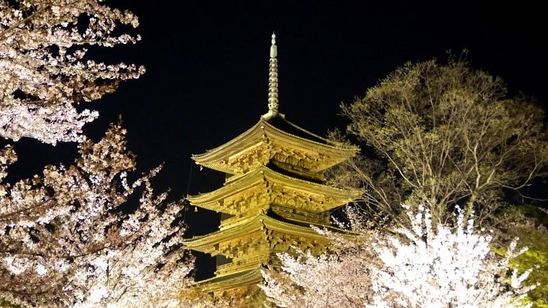 象徵京都金碧輝煌的五重塔