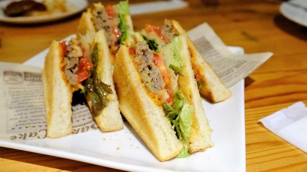 Hamburg steak sandwich