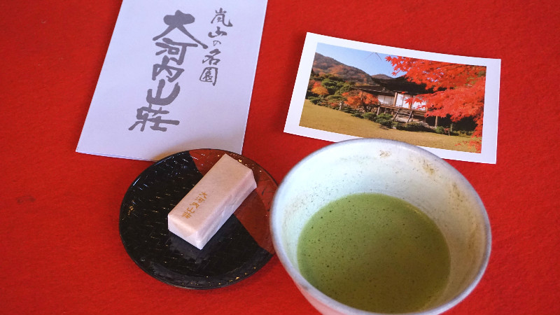 Japanese sweet and matcha tea
