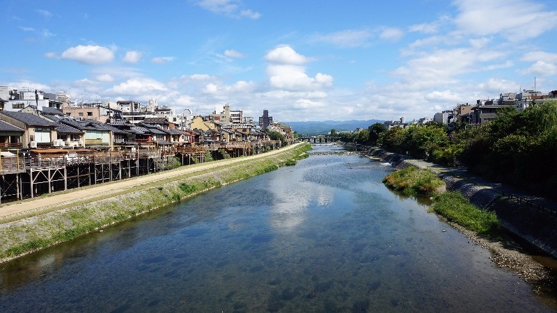 The sky feels so vast in Kyoto!