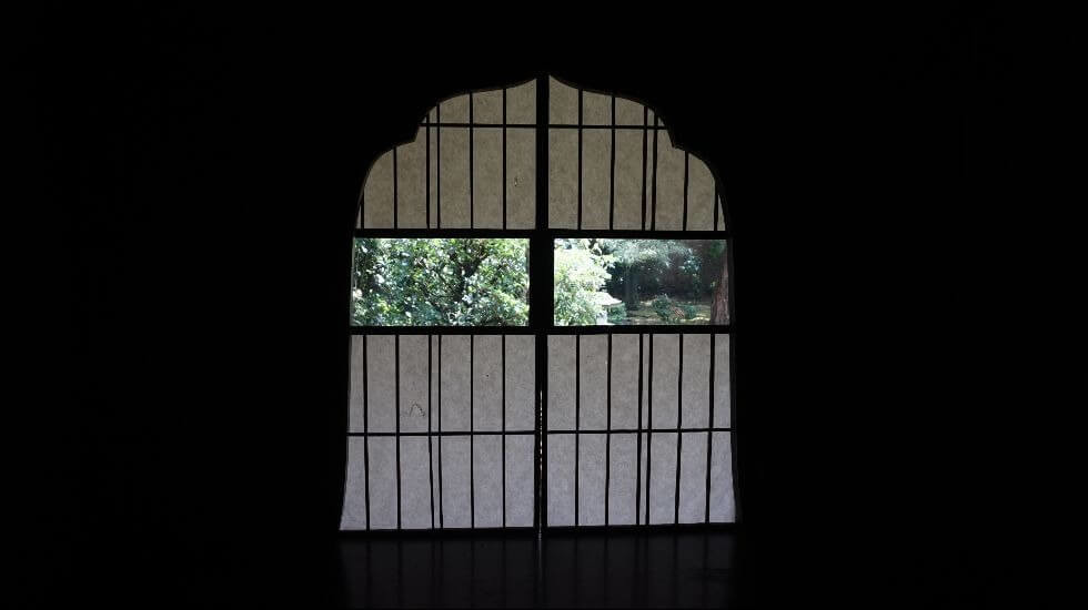 Glass Shoji paper sliding doors