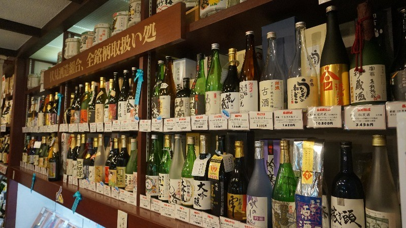 many bottles of sake