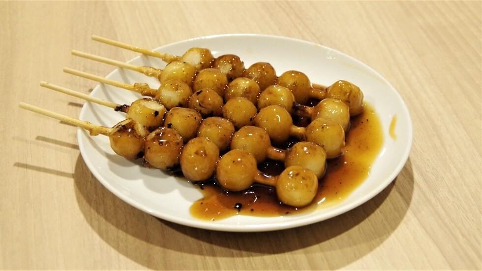 small balls of mochi