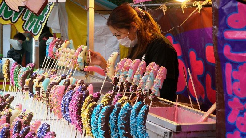多種顏色的巧克力香蕉