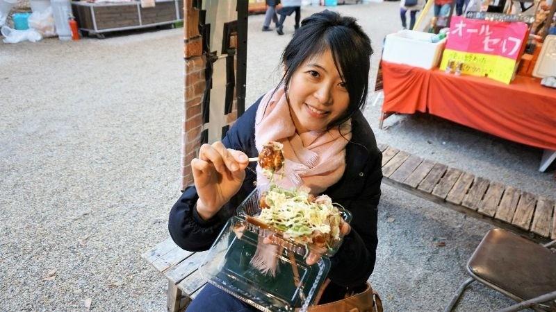 Kansai-style takoyaki