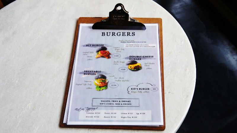 CROSS Burger menu