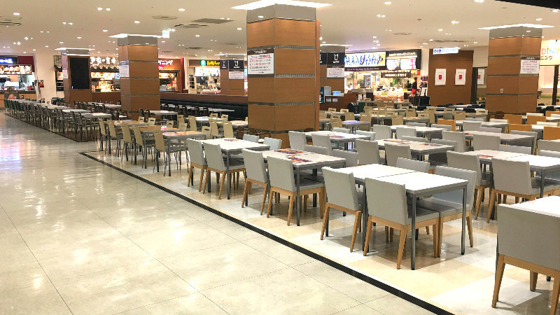 The popular food court