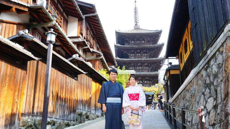 You can't go to Kyoto without a kimono