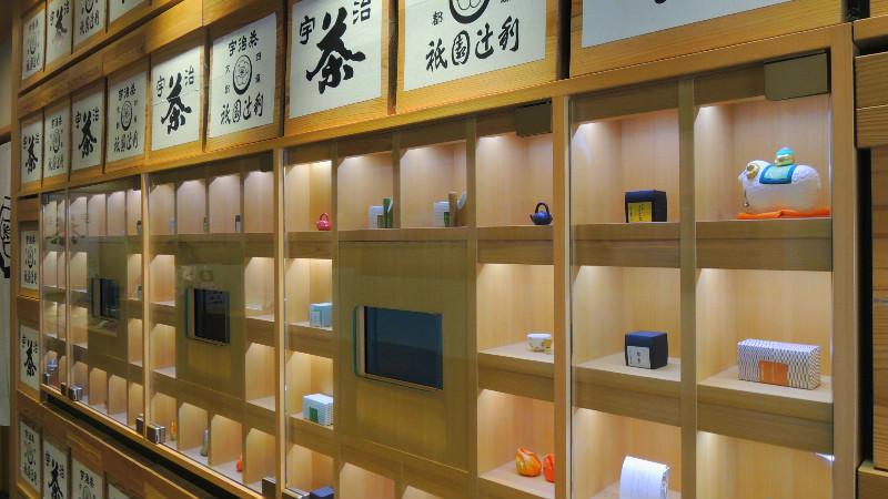 一樓的祇園辻利販賣日本茶做成的美味甜食