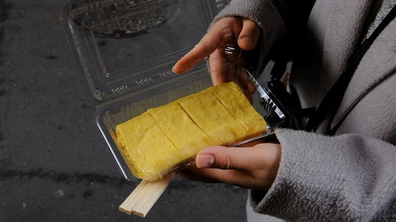 Tamagoyaki omelet at Tanaka