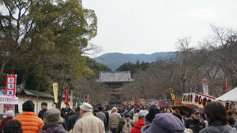 The way to Daigo temple gate