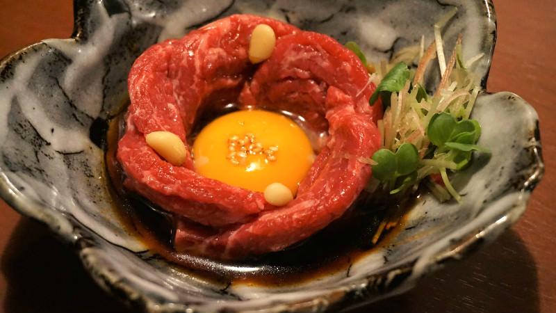 和牛ユッケ(生拌牛肉)
